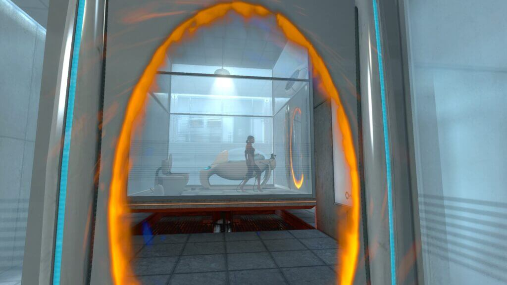 Woman player character in Portal Game