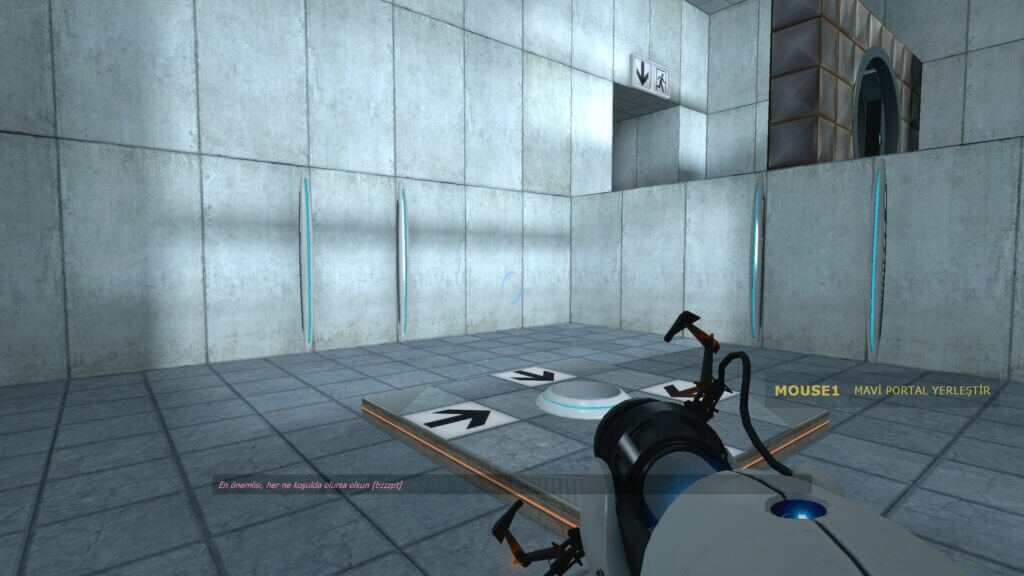Nice Affordance Box of Portal Game, on the Right of Screen