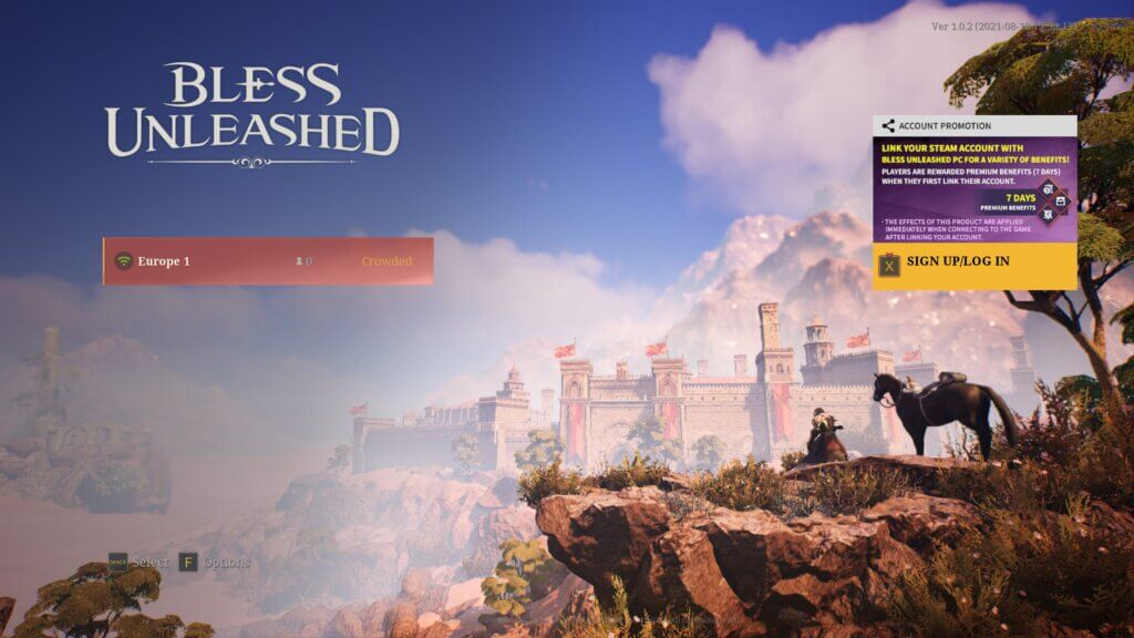 screenshot from the game. Used in the post of Bless Unleashed Game Review.