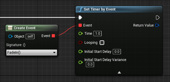 set timer by event and create event