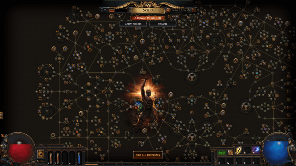 Shot of skill page taken from the game of Path of Exile
